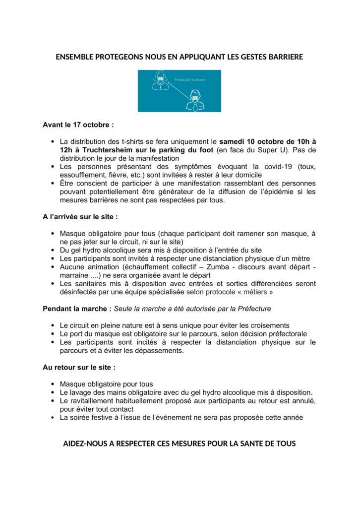 protocole sanitaire 2020